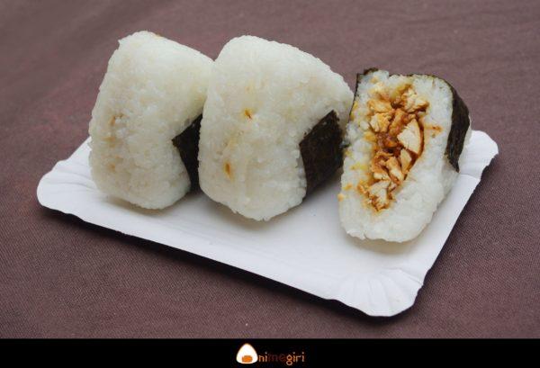 Trio de onigiris au poulet-3 gingembres